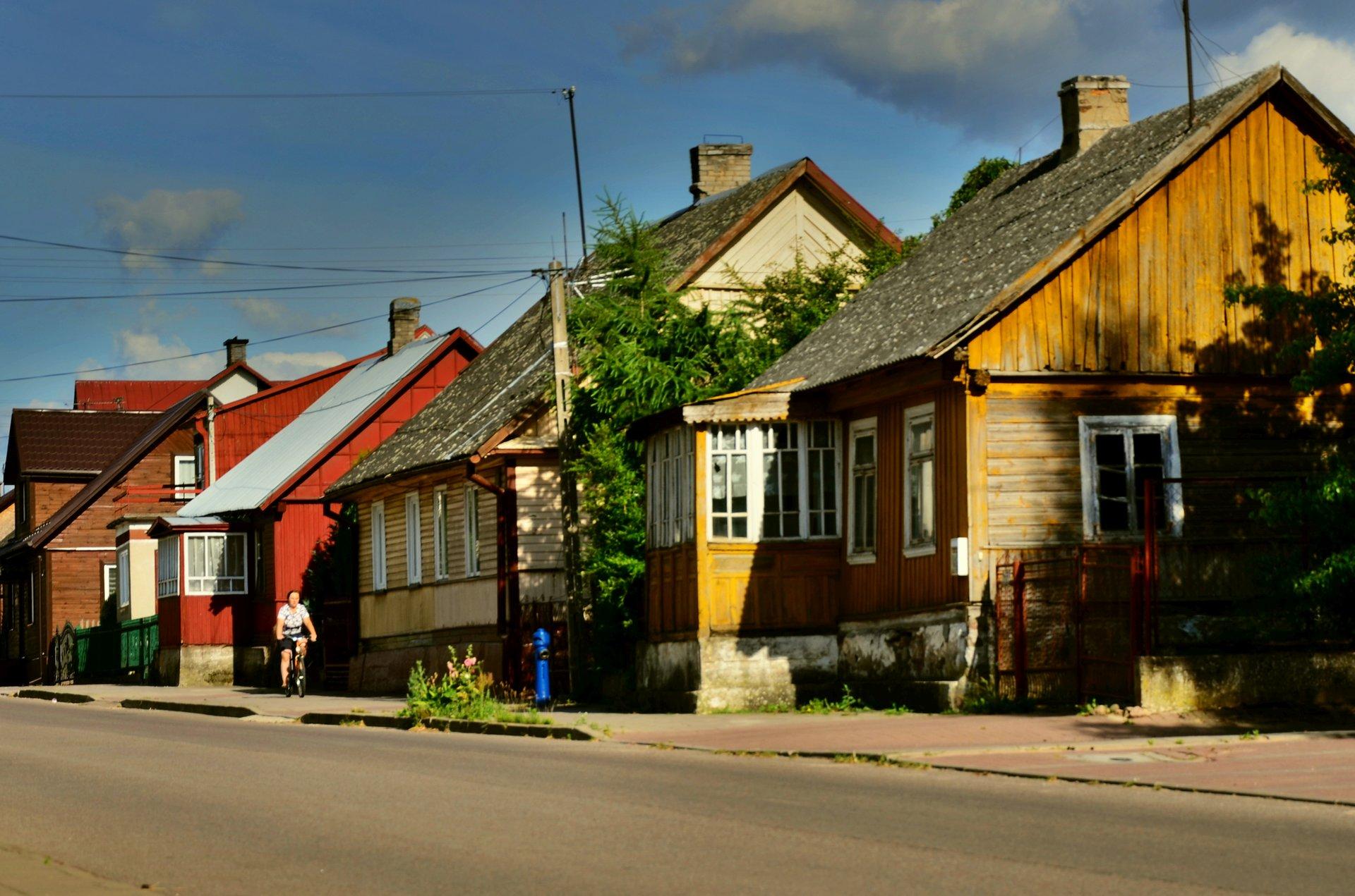 Suchowola Goniądzka domy drewniane