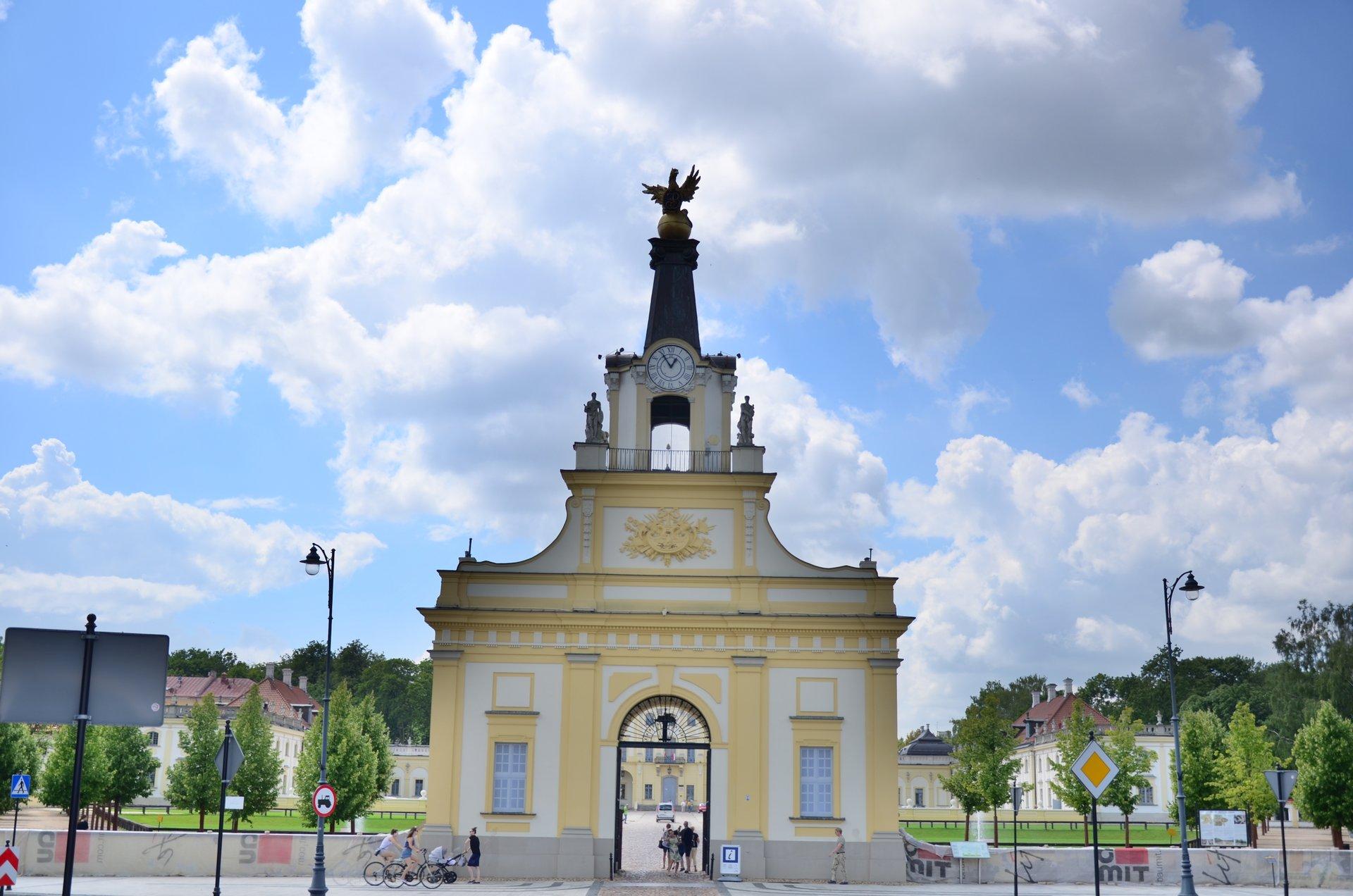 Białystok Pałac Branickich brama zegar gryffree photo darmowe zdjęcie