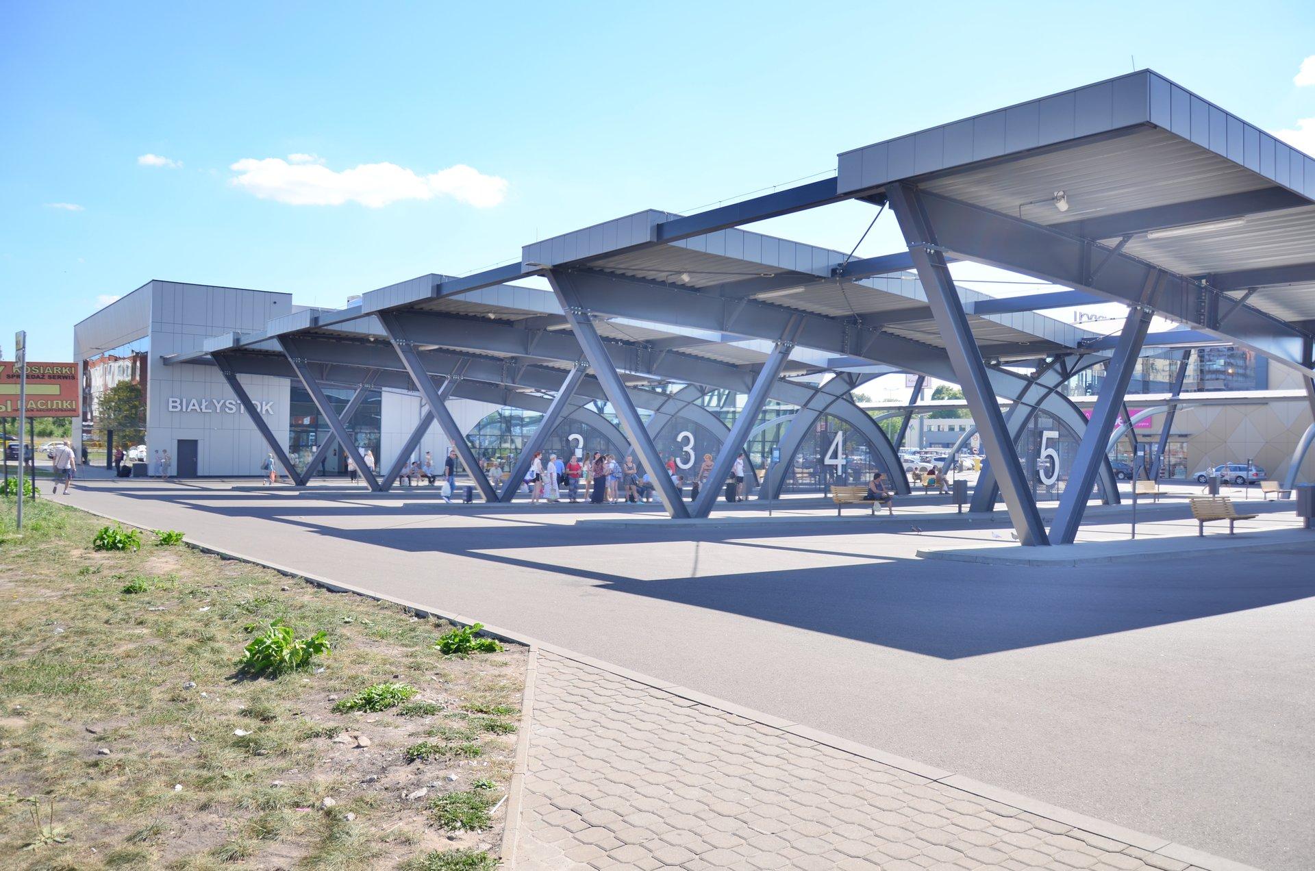 Białystok dworzec autobusowy PKSfree photo darmowe zdjęcie