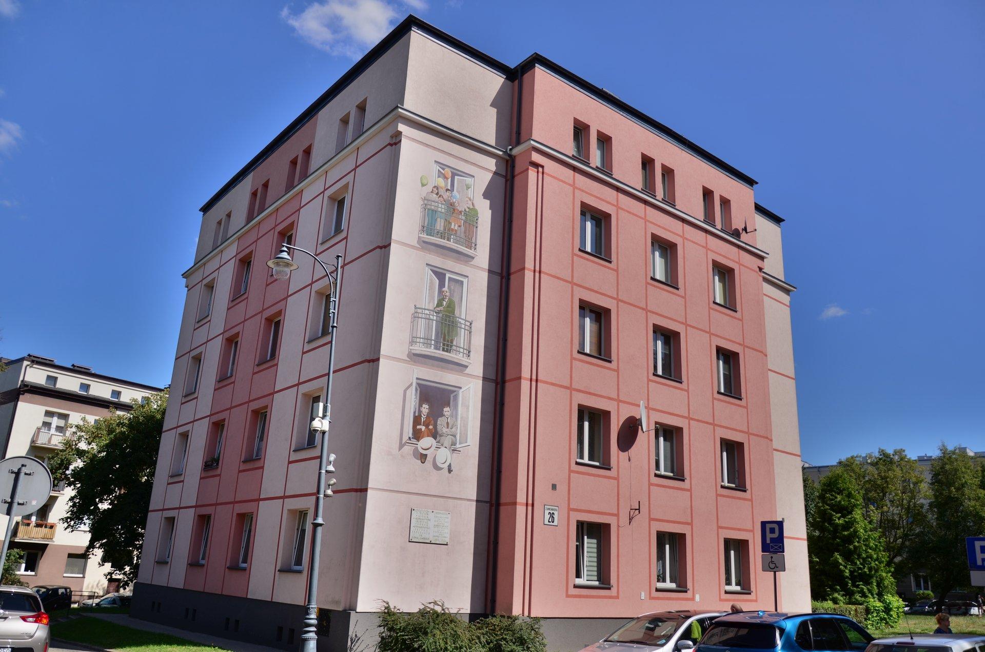 Białystok Zamenhofa centrum kamienica muralfree photo darmowe zdjęcie