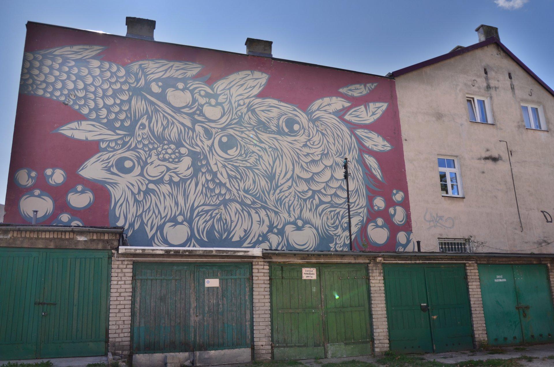Białystok Waryńskiego Częstochowska mural garaż garażefree photo darmowe zdjęcie
