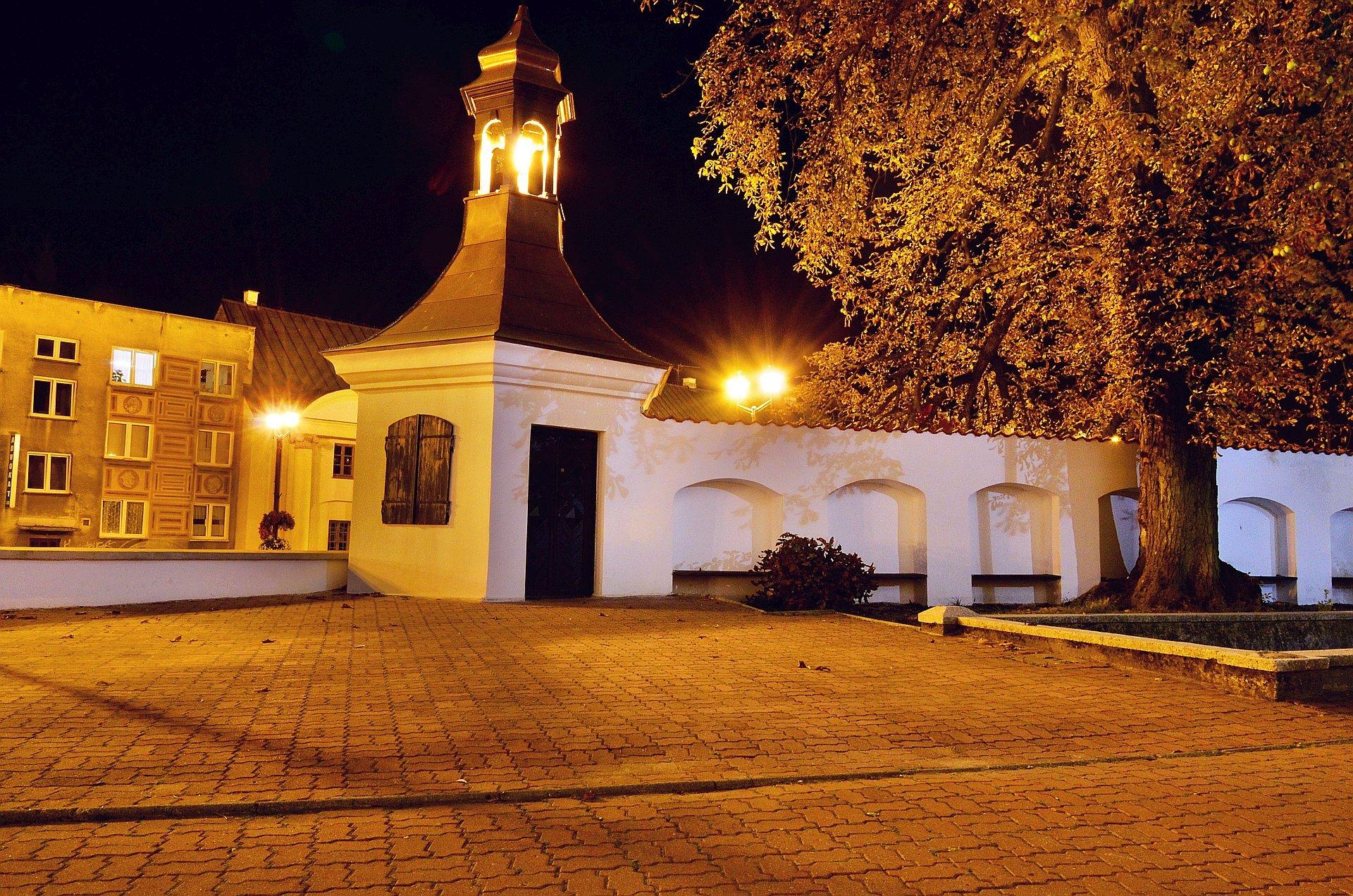 Białystok centrum noc nocą katedra kościół Rynek Kościuszkifree photo darmowe zdjęcie