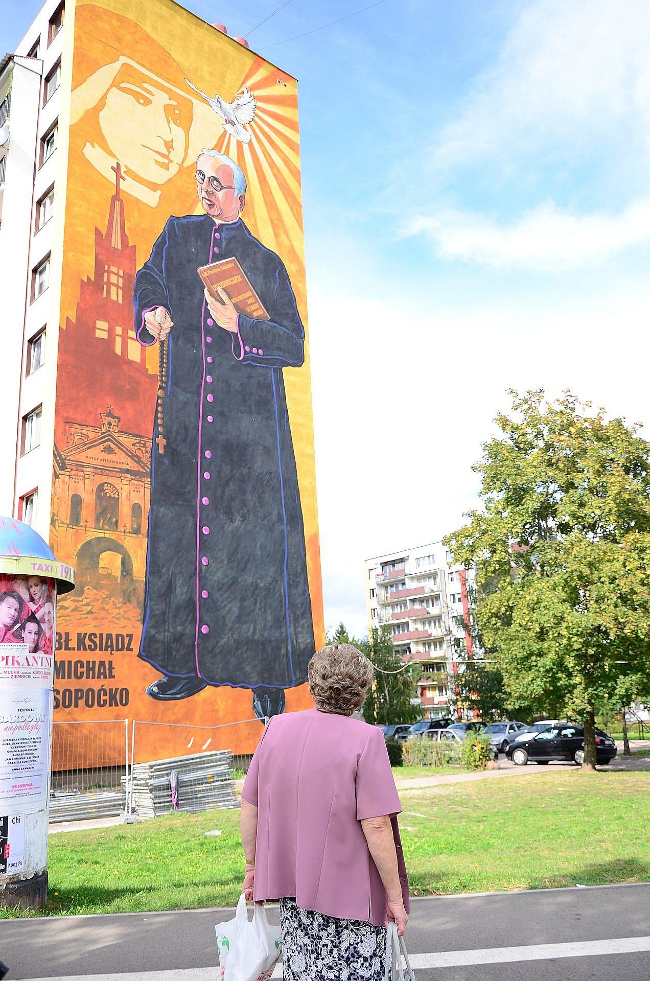 Białystok Radzymińska Białostoczek mural Sopoćko