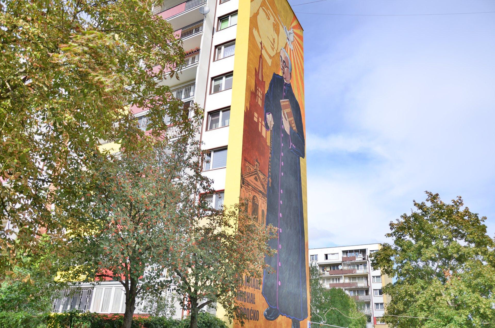Białystok Radzymińska Białostoczek mural Sopoćkofree photo darmowe zdjęcie