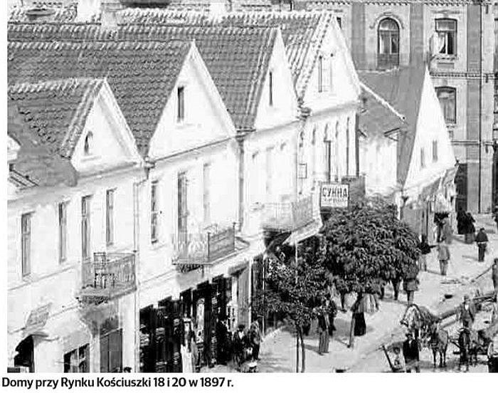 Rynek Kościuszki 18 i 20. Bakalie Sicza i herbata Rapaport-Kagana