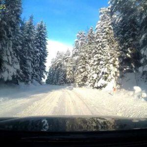 Zimowy przejazd przez Supraśl i okolice. Obrazy jak w bajce!